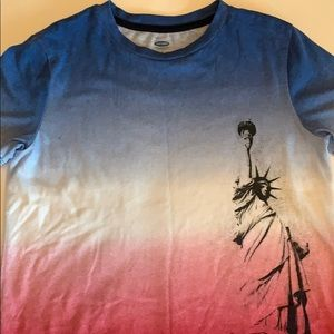 Boys red white and blue Statue of Liberty T-shirt